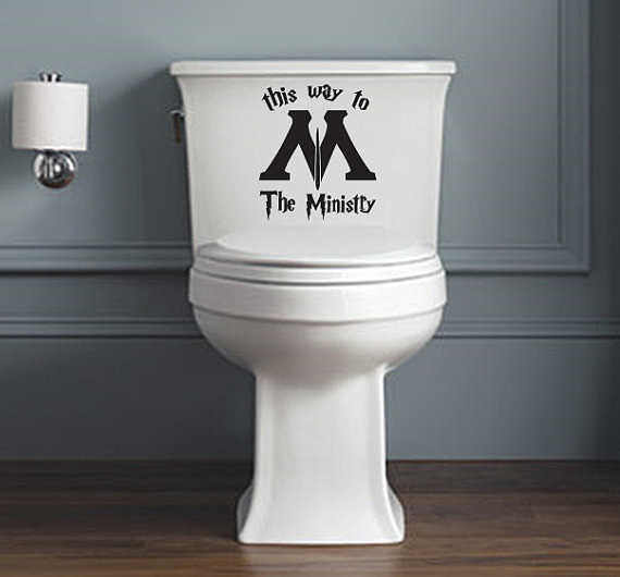 A toilet decal that provides the only GPS you need to get to the Ministry of Magic.