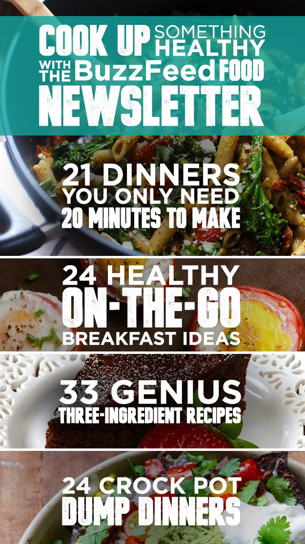Want to bring your culinary skills to the next level? Try the BuzzFeed Food newsletter!
