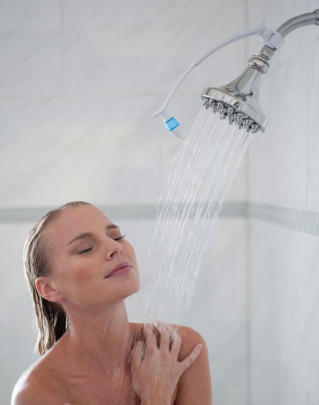 Turn a shower into a spa treatment with this aromatherapy system that dispenses essential oils directly into your shower's hot water.