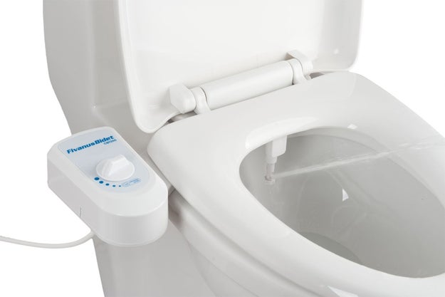 Get the bidet experience without the required construction with this self-cleaning nozzle attachment that installs on your regular old toilet.
