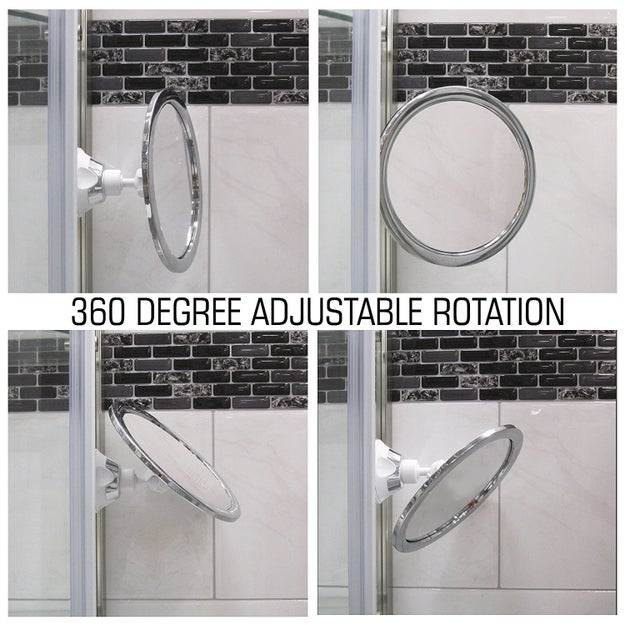 Add an adjustable, no-fog shaving mirror to your shower routine to prevent nicks and enable thorough pore examinations.