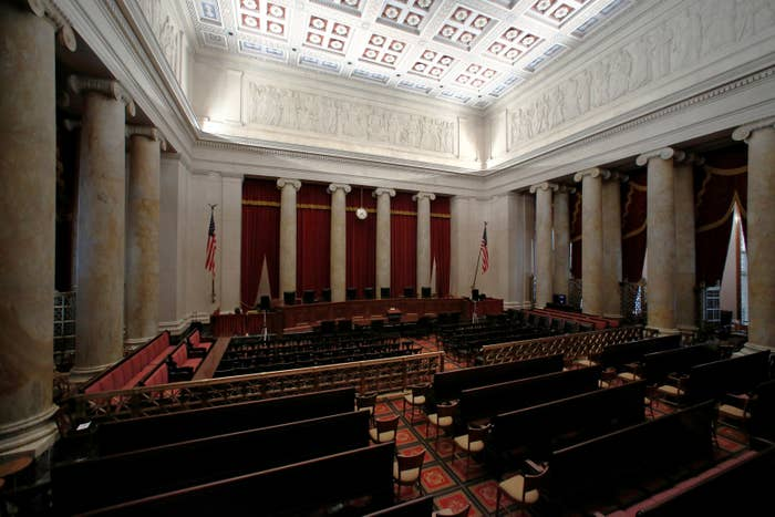 The courtroom of the U.S. Supreme Court.