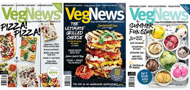 A subscription to VegNews, a magazine that's made entirely for them.