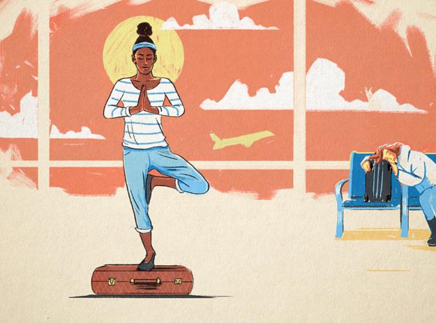 Release endorphins through yoga.