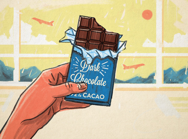 Reap health benefits by snacking on dark chocolate.