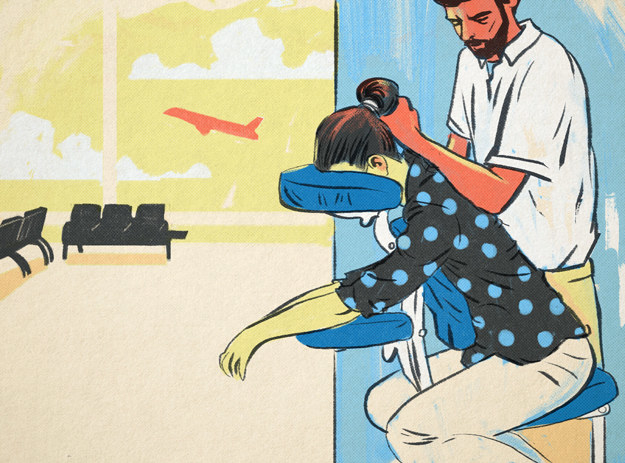 Improve your circulation with a pre-flight massage.
