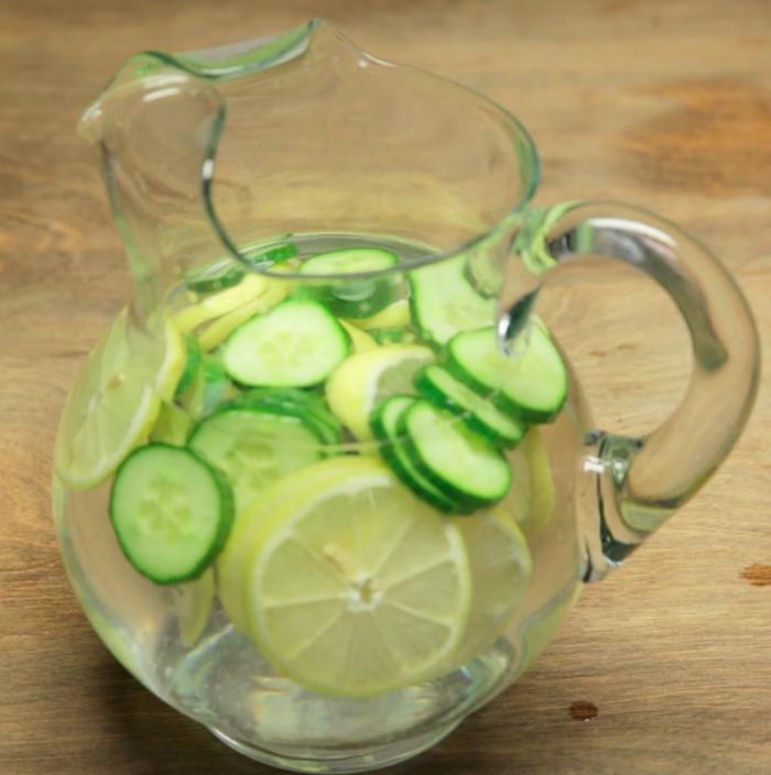 8 cups water1 lemon1 cucumber