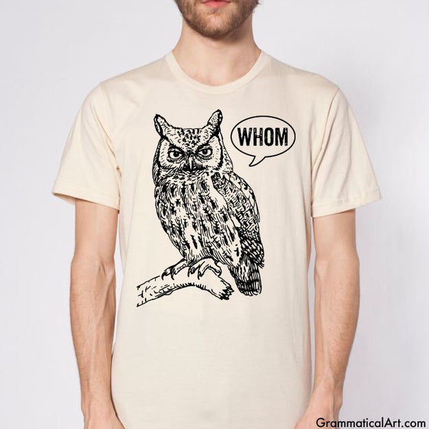 A judgmental owl tee.