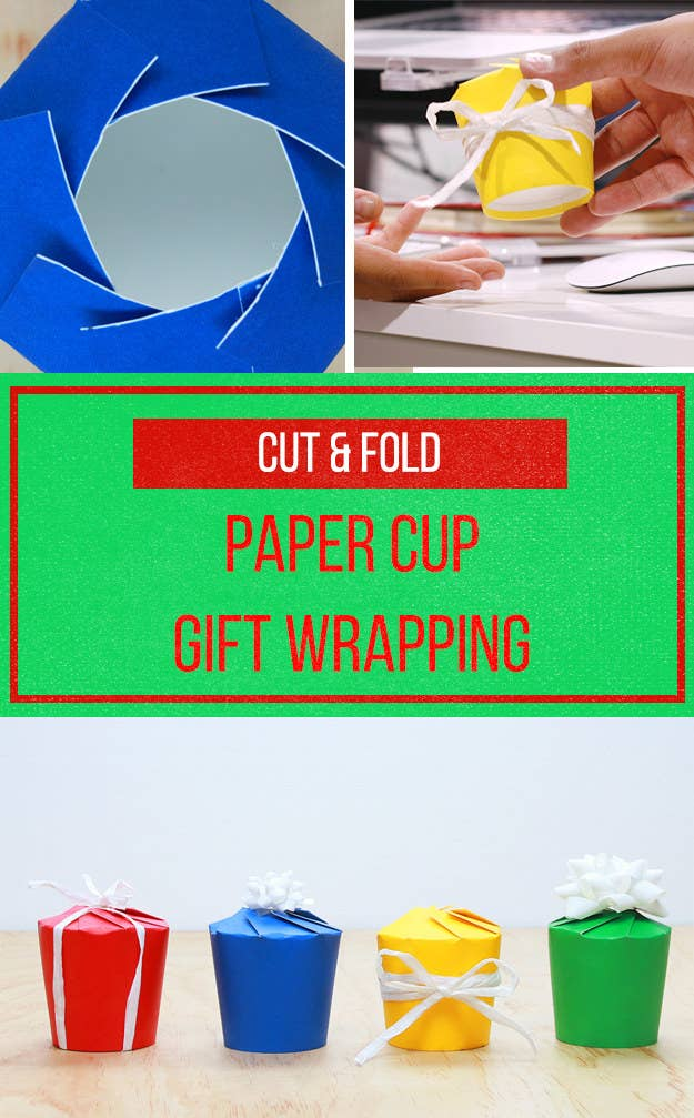 This Paper Cup Gift Box Will Save Your Christmas Presents