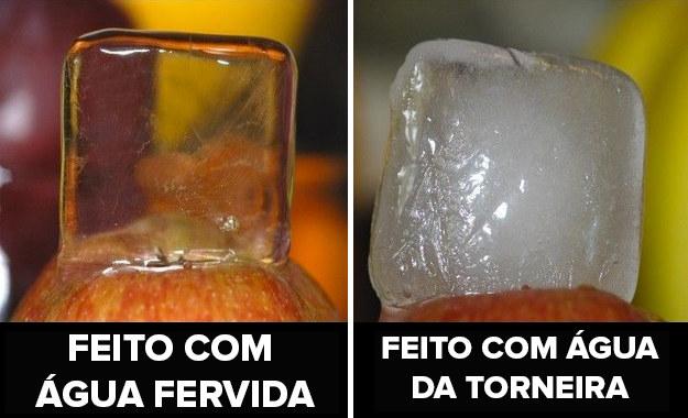 Impressione seus convidados com cubos de gelos cristalinos: