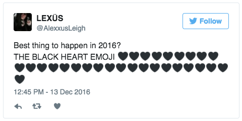 The Black Heart Emoji Is Finally Here To Match Your Soul