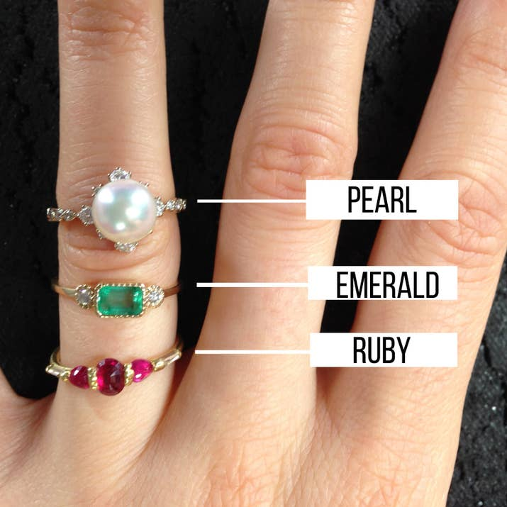 """You want to be careful with pearl and opal engagement rings,"" Thames said. ""They're not built to wear everyday, so if you're out hiking you may want to take it off and wear a gold band that day."""