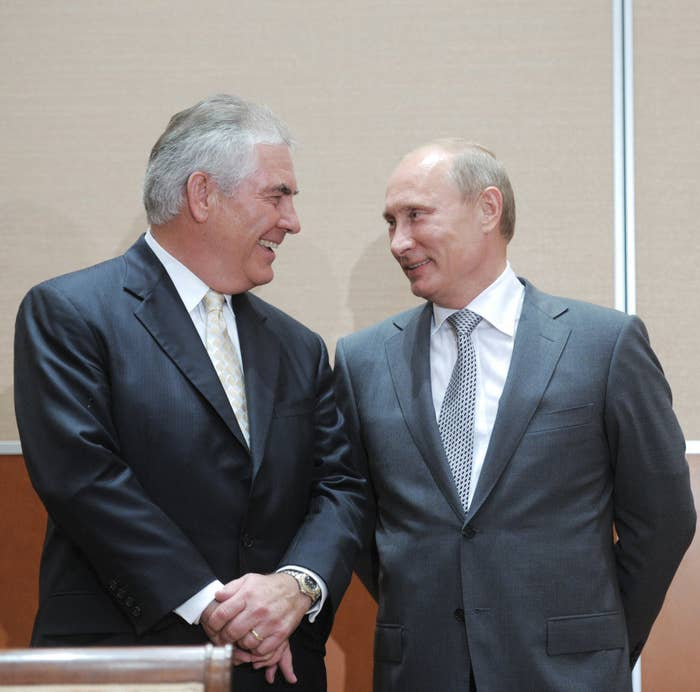 Tillerson and Putin.