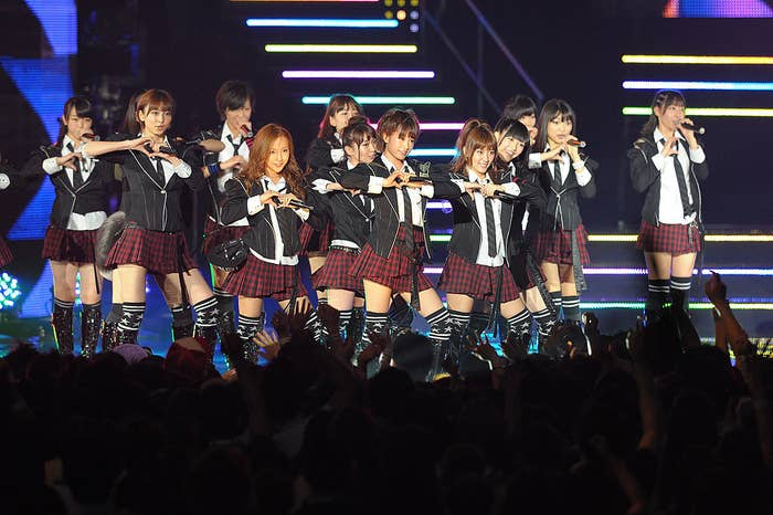 The group has over 100 members who are split into teams that can rotate and appear at different events simultaneously. The winner of this year's competition – also known as the Janken tournament – would become the center of a new seven-member unit.
