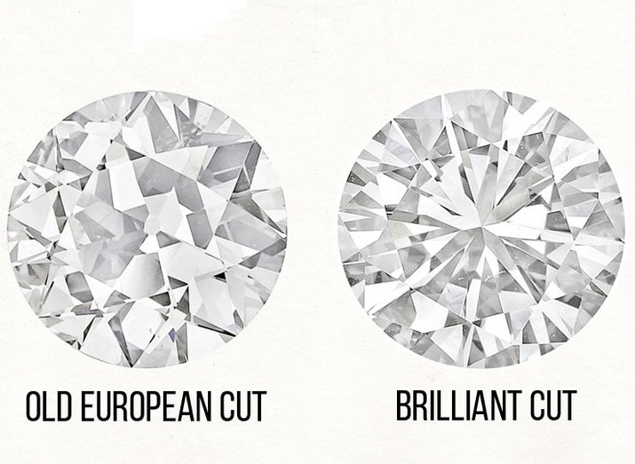 """A brilliant diamond or gemstone is cut to have numerous facets on the top and bottom of the stone, which makes it reflect and refract a lot of light. A great way to think of a brilliant diamond: """"If you were to draw a diamond on a piece of paper, it has that pointy bottom,"""" Rachel Thames, buyer and manager of Brooklyn-based jewelry store Catbird, told BuzzFeed."""