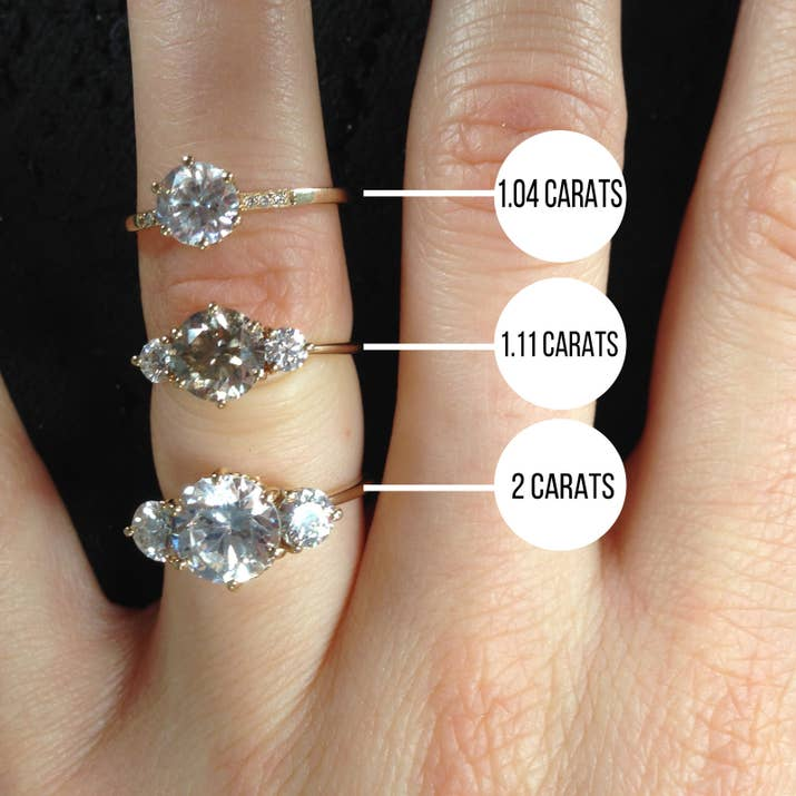 for diamonds size every settings diamond carat