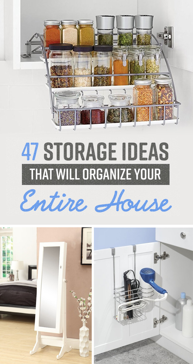 We hope you love the products we recommend! Just so you know BuzzFeed may & 47 Insanely Clever Storage Ideas For Your Whole House