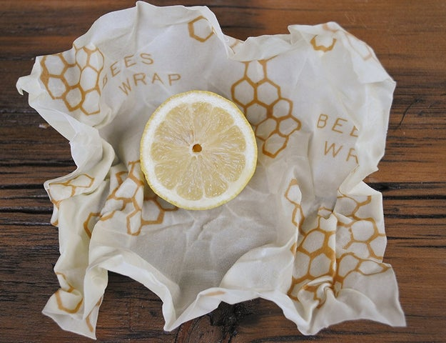 Kick your wasteful plastic wrap habit and keep food fresh in sustainable Bee's Wrap. It'll last you for as long as a year.
