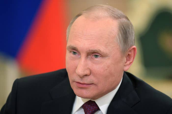 Russian President Vladimir Putin speaks during an interview with Nippon Television Network Corporation and Yomiuri Shimbun on December 7, 2016.