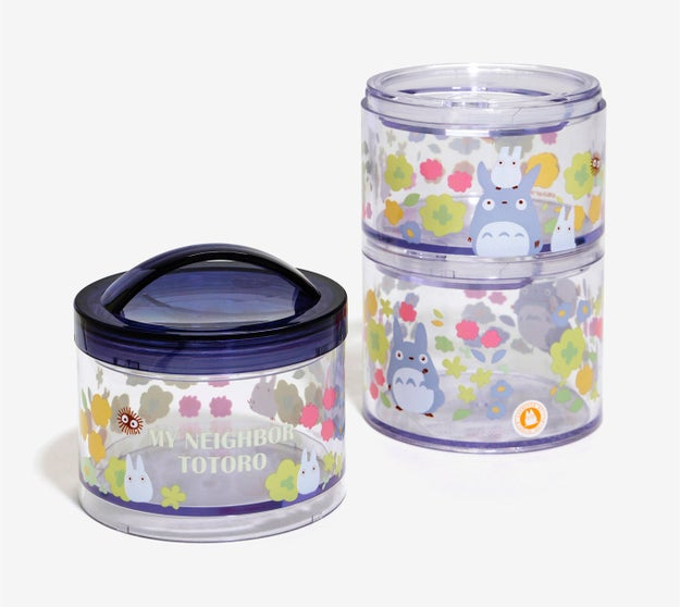 Stackable My Neighbor Totoro containers that will entice you to make and pack your lunch every day.