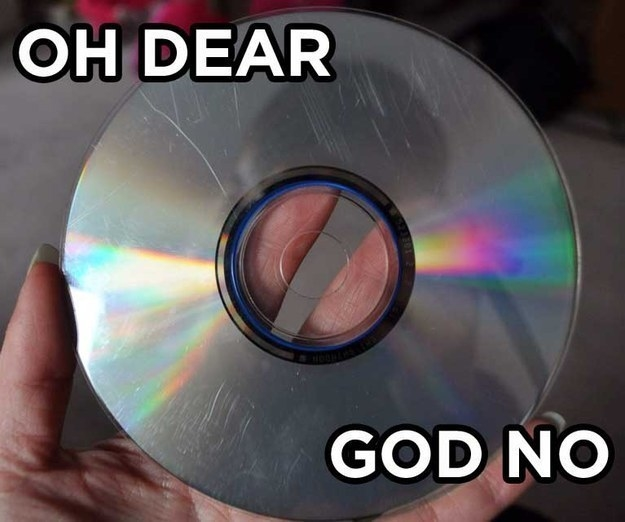 Or the one worst thing that could happen to your CD: