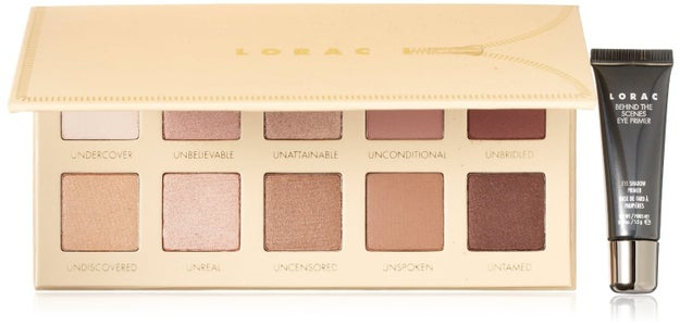 Lorac Unzipped Eyeshadow Palette, full of eyeshadows in perfect shades you'll use all the time.