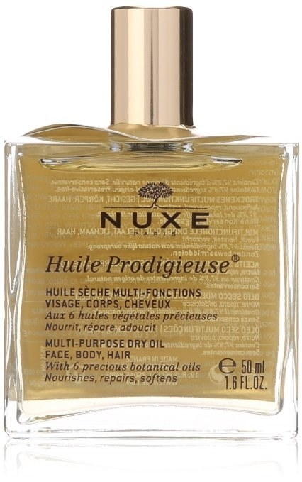 NUXE Huile Prodigieuse Multi-Purpose Dry Oil, to help nourish your face, body, and hair.