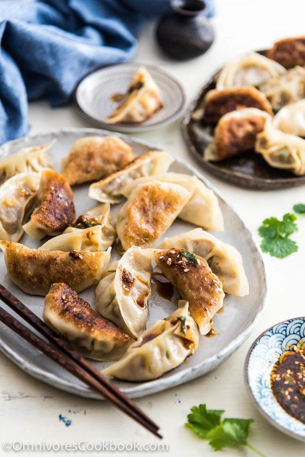 Chinese Beef Dumplings With Spicy Dumpling Sauce