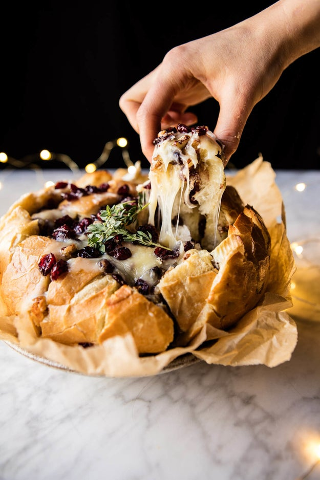 Cranberry Brie Pull-Apart Bread