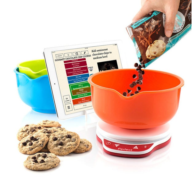 Avoid digging through drawers for measuring cups thanks to this app-enabled food scale. It'll tell you when to cut off that delicious flow of chocolate chips.