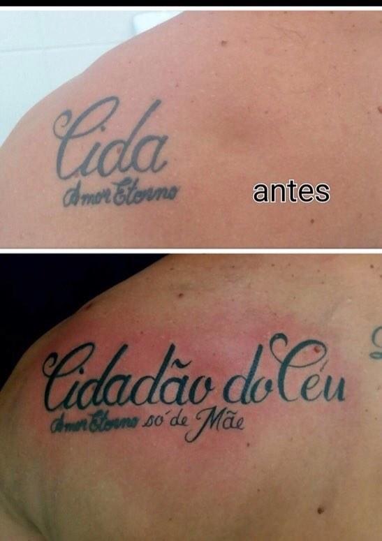 Melhor correção de tatuagem de todos os tempos.