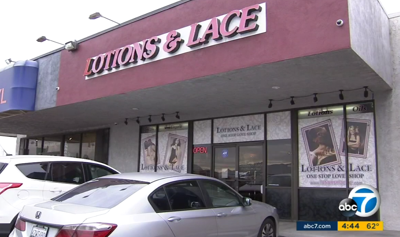Man Cave Store San Bernardino : Two sex shop employees chased off an armed robber by