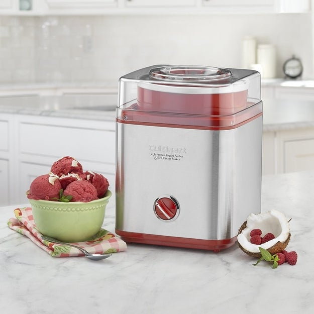 A Cuisinart 2-quart sorbet and ice cream maker for making desserts as cookie-filled or special diet-friendly as your heart desires.