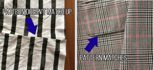 Make sure your pattern matches at the seams.