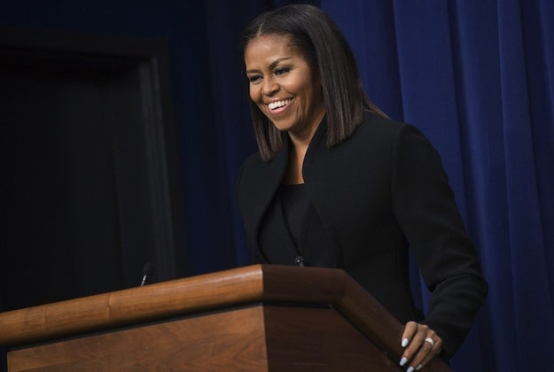 The screening was followed by a discussion with Michelle Obama.