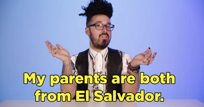 Curly's parents are from El Salvador, Claudia's parents are from Colombia, Norberto's parents are from Mexico, Gadiel's parents are from the Dominican Republic, and Maya is 4th generation Mexican-American.