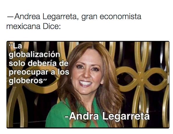 Andrea Legarreta demostró sus conocimientos en economía.