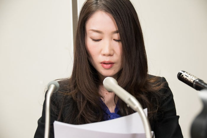 冨田さんの手記を読み上げる代理人弁護士