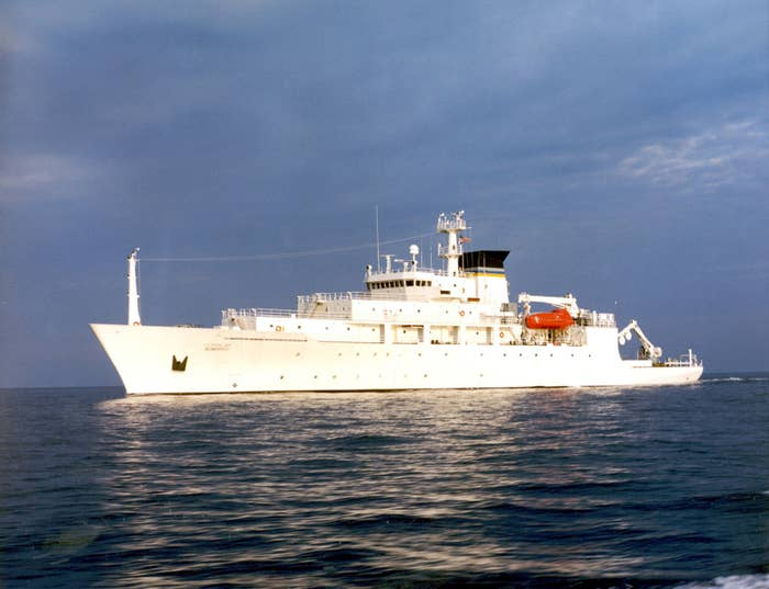 The USNS Bowditch, pictured in 2002.