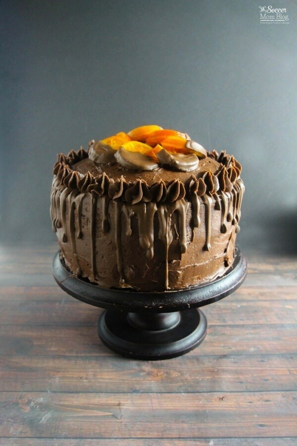 Candied Orange Chocolate Cake