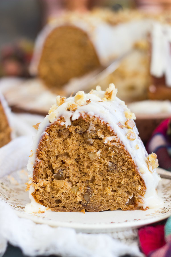 Whisky Walnut Spice Cake