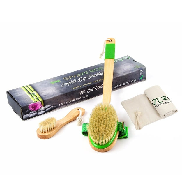 A dry skin brush to make your skin glow and kick-start your lymphatic system.
