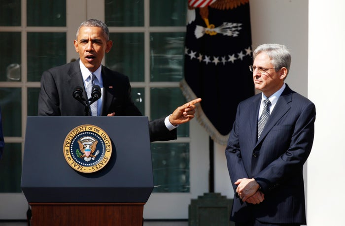 President Obama announces Judge Merrick Garland as his nominee for the U.S. Supreme Court on March 16.