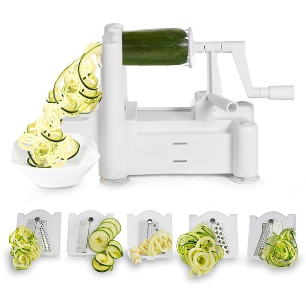 Invest in a spiralizer and slicer so you can easily (and creatively) add vegetables to every meal.