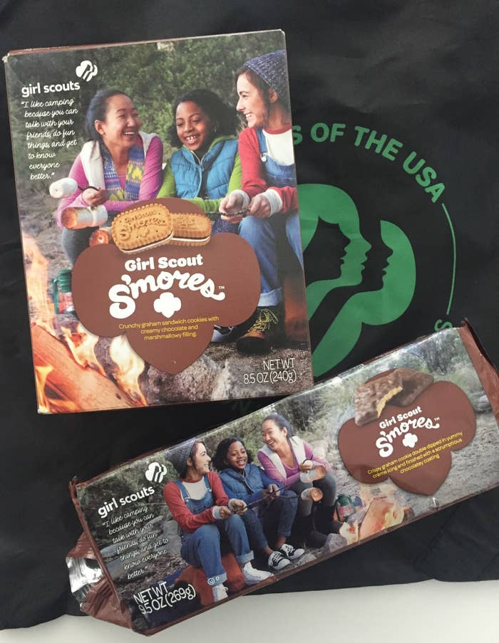 This season also marks the 100th anniversary of the first-ever sale of cookies by a Girl Scout. Each box will cost around $4 and can be purchased via your local neighborhood Girl Scout troop or — if you don't personally know of one — can be ordered online. (Note, however, that even the online option requires you to go through a local Girl Scout troop or cookie booth.)The Girl Scouts will determine future availability as the cookie season progress, meaning this year might be your one and only chance to try a S'mores Girl Scout cookie. So, without further ado: