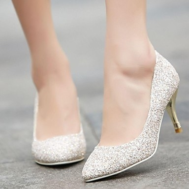 And these glitter dress heels for a wintry soirée.