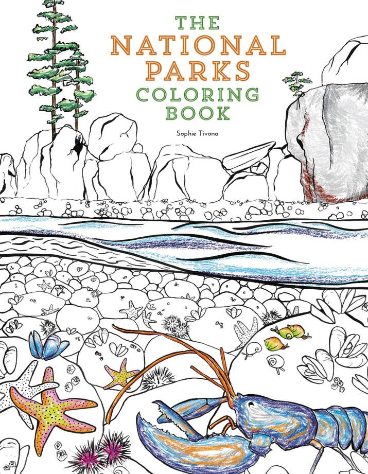 The National Parks Coloring Book For Outdoor Enthusiasts