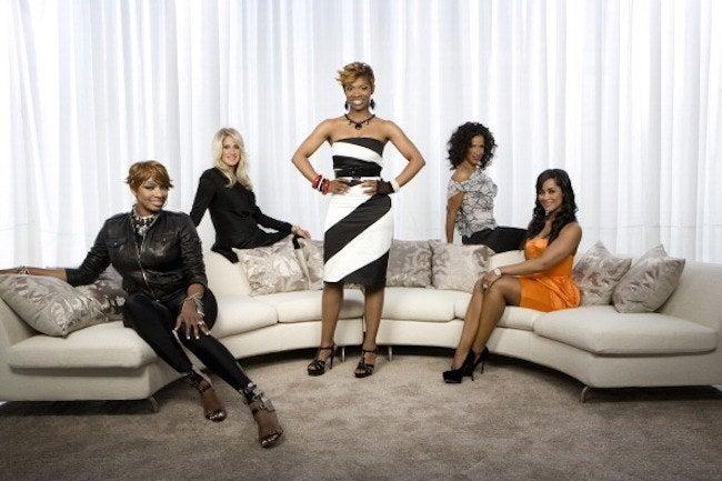 The Real Housewives of Atlanta 2009 cast members, from left, NeNe Leakes, Kim Zolciak, Kandi Burruss, Sheree Whitfield and Lisa Wu.