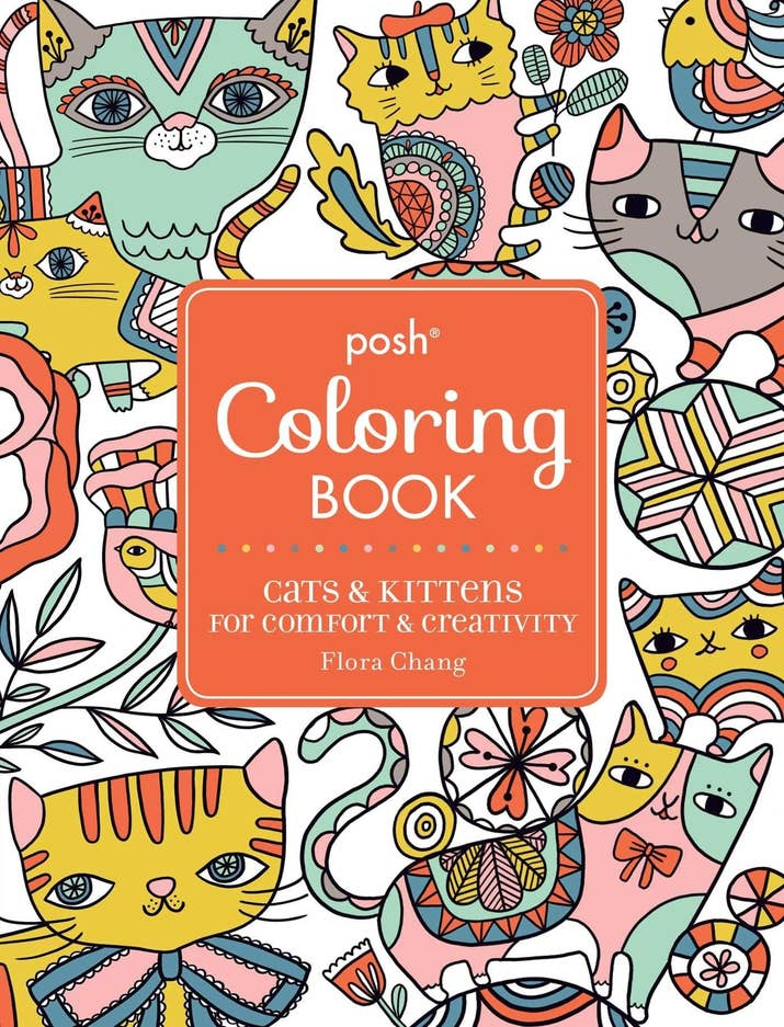 Posh Coloring Book Cats Kittens For Anyone Whos Always Covered In Cat Hair