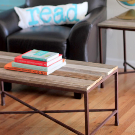 Breathe new life into an old piece with this DIY reclaimed-wood coffee table project.